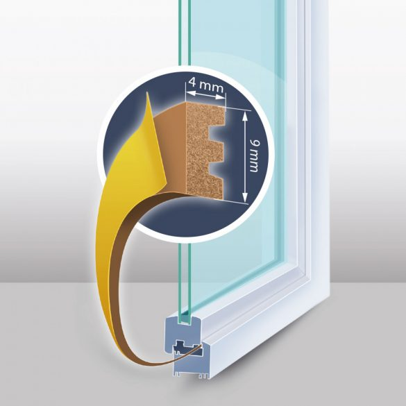 DeLight Öntapadós ajtó- ablakszigetelő (11598BR-100)