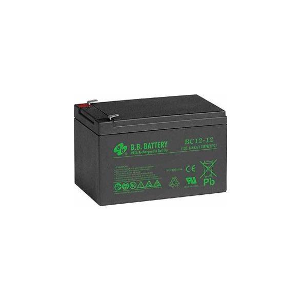B.B. Battery BC12-12 12V 12Ah zselés akkumulátor