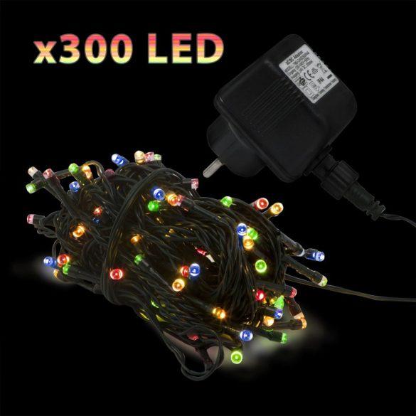 300 LED-es szines égősor (55218)