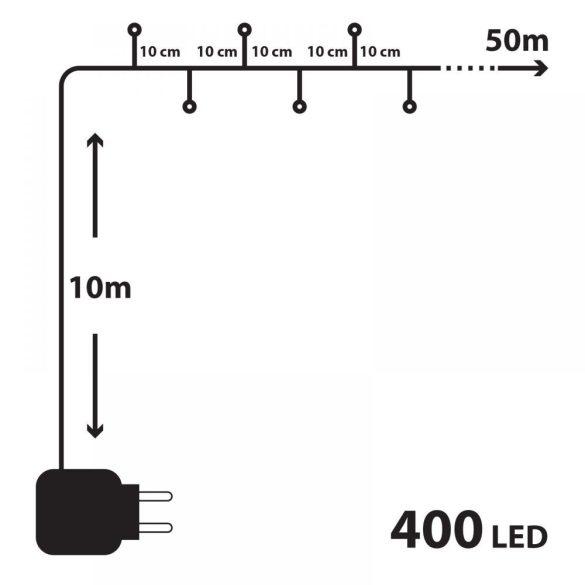 400 LED-es szines égősor (55219)