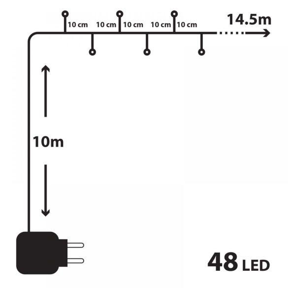 48 LED-es szines égősor (55215)