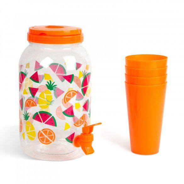 Garden of Eden Italadagoló csappal, műanyag pohárszettel (57243A)