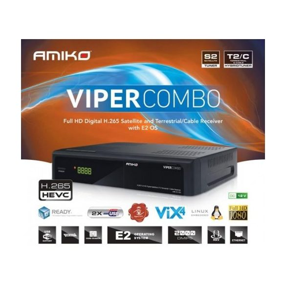 Amiko Viper Combo DVC-C/T2/S beltéri egység