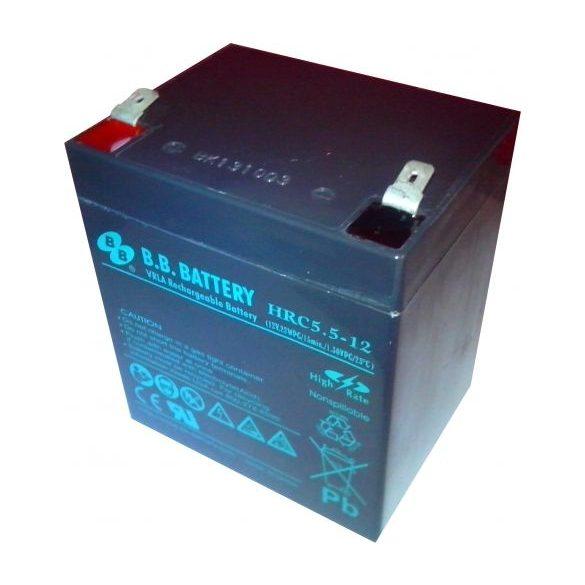 B.B. Battery HRC5.5-12 12V 5,5Ah hosszú élettartamú zselés akkumulátor T2