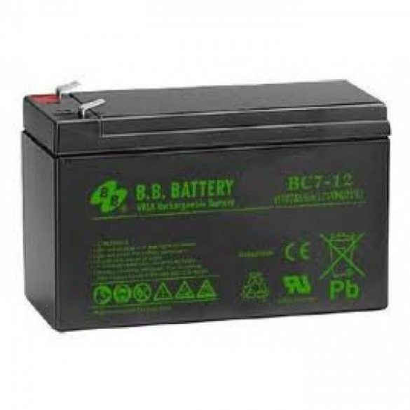 B.B. Battery BC7-12 12V 7Ah zselés akkumulátor T2