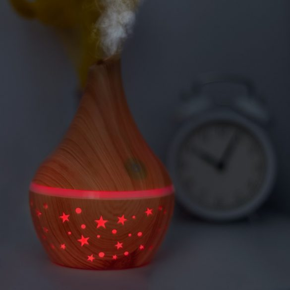 Bewello fényterápiás aroma diffúzor - 300 ml - fa minta (BW2001)