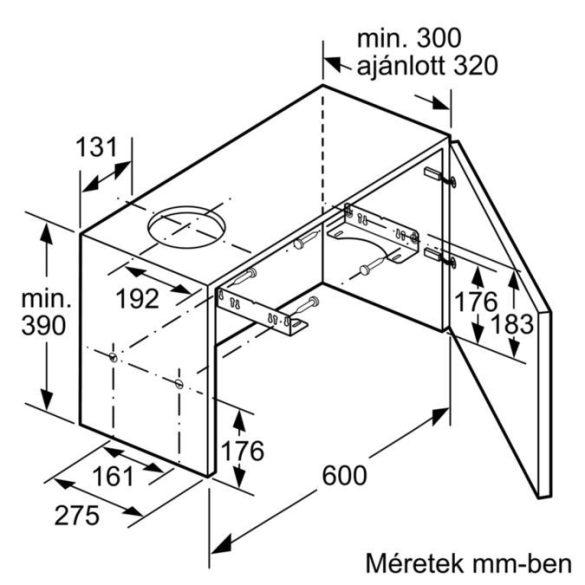 Bosch DFM064W50 Teleszkópos páraelszívó 60 cm