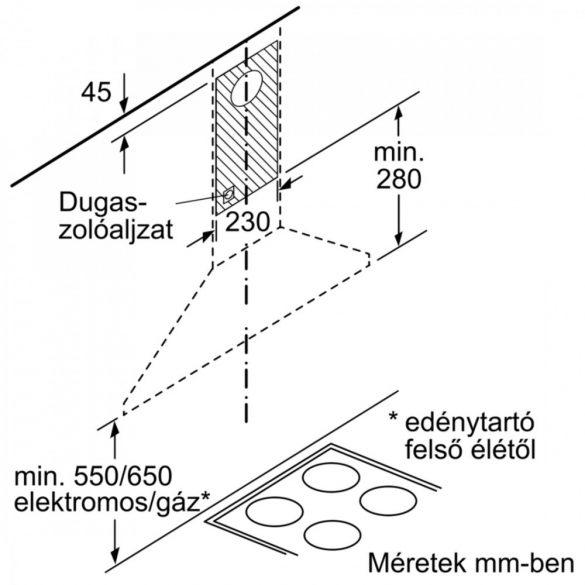 Bosch DWP64BC50 Kürtős páraelszívó 90 cm