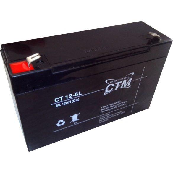 CTM 6V 12Ah akkumulátor