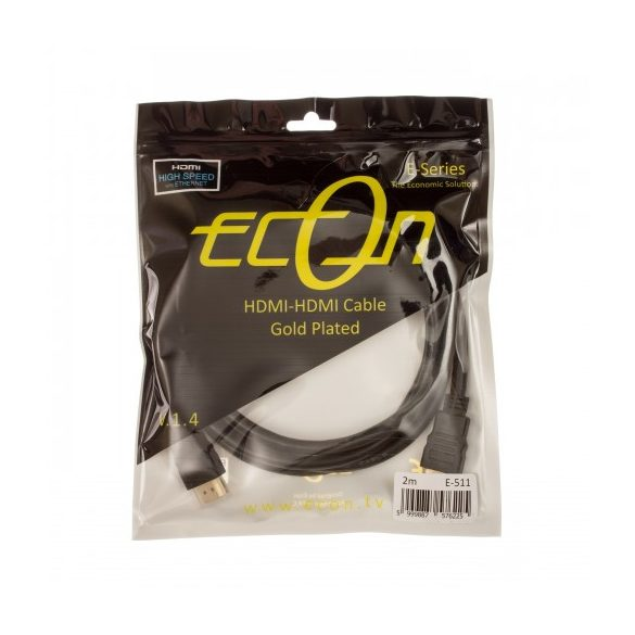 Econ E-511 HDMI 1.4 aranyozott kábel 2m