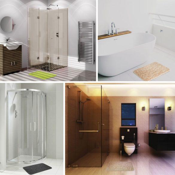 Family Pound fürdőszobai kilépőszőnyeg 60x40 - világosbarna (57158B)