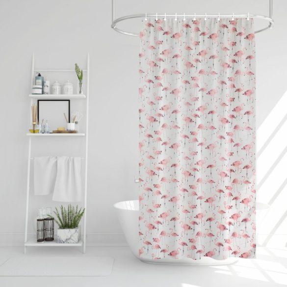 Family Pound zuhanyfüggöny - 180x200cm - flamingós (11527D)
