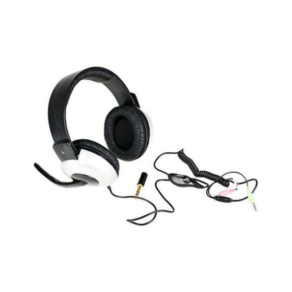 Genius HS 05A jack fekete headset