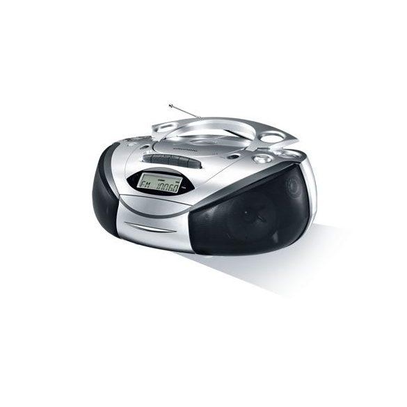 Grundig RRCD-3720S Hordozható MP3-as Cd-s rádiós magnó ezüst)