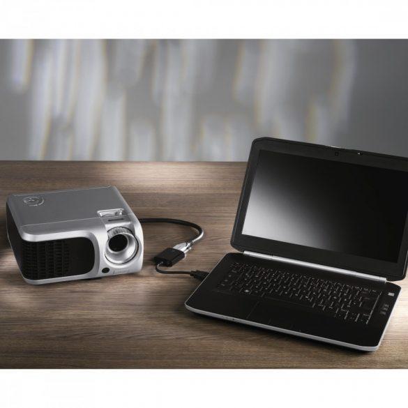 Hama HDMI - VGA adapter + 3,5mm jack dugó (egyirányú) (54569)