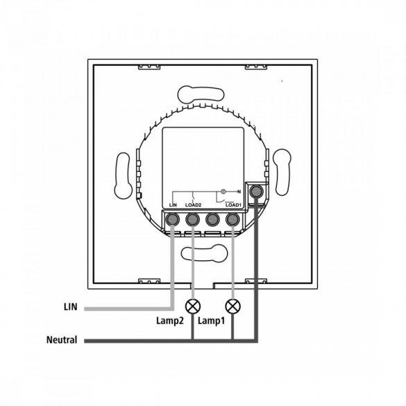 Hama okos WiFi beépíthető fali kapcsoló (176551)