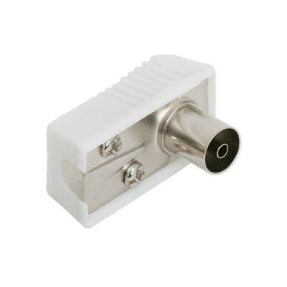 TV koax aljzat 90°-os standard kivitel (05010)