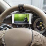 MNC SteeringWheel univezális telefon tartó kormányra - fekete (55018B)