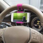 MNC SteeringWheel univezális telefon tartó kormányra - pink (55018A)