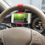 MNC SteeringWheel univezális telefon tartó kormányra - piros (55018C)