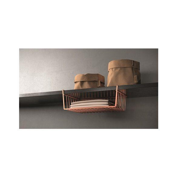 Metaltex MX363140 kanguro-40 copper polcra akasztható tároló kosár