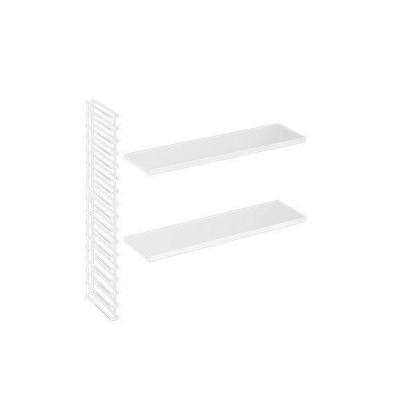 Metaltex MX377613/002 tomado fehér fali tároló kiegészítő, 2 fehér  polccal