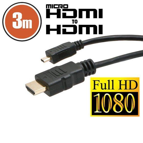 Micro HDMI kábel 3m (20425)