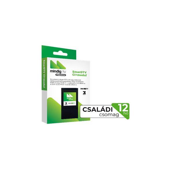 MinDigTV 12 hónap Extra Családi csomag CI kártya modullal