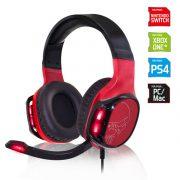 Spirit of Gamer Fejhallgató - ELITE-H60 Red (MultiPlatform, 2.0, mikrofon, Jack, hangerőszabályzó, nagy-párnás, piros)