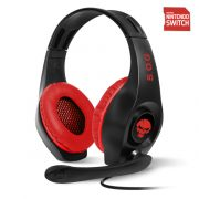 Spirit of Gamer Fejhallgató - PRO-NH5 Red (Nintendo Switch,mikrofon, 3.5mm jack,hangerőszabályzó, 2m kábel fekete-piros)