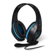 Spirit of Gamer Fejhallgató - ELITE-H5 (MultiPlatfrom, mikrofon, hangerőszabályzó, nagy-párnás, 3m kábel, fekete-kék)