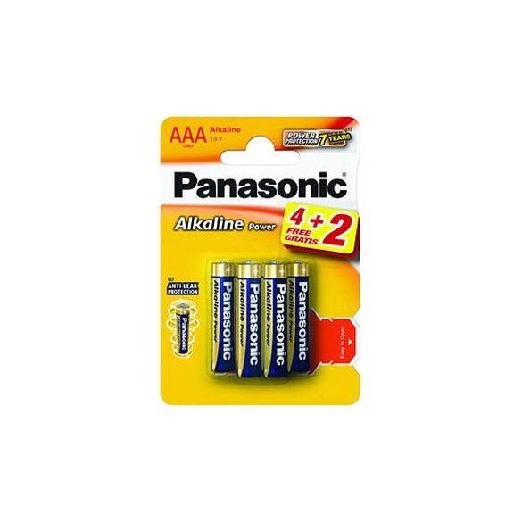 Panasonic Alkaline Power AAA mikro 1.5V alkáli/tartós elemcsomag LR03APB-6BP4-2