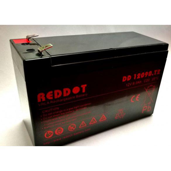 RedDot DD12090 12V 9Ah zselés akkumulátor T2 (szünetmentes tápegységekbe)