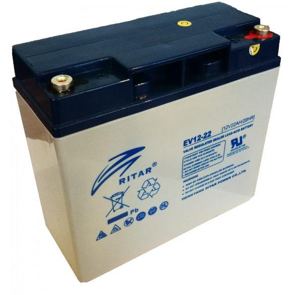 Ritar EV12-22-F13 12V 22Ah ciklikus ólomzselés akkumulátor