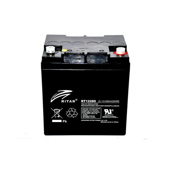 Ritar RT12280S 12V 28Ah zárt ólomzselés akkumulátor