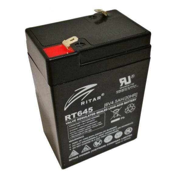 Ritar RT645 6V 4,5Ah zselés akkumulátor