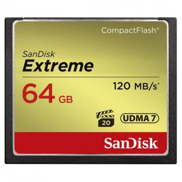 SanDisk Extreme CompactFlash 64 GB memóriakártya (124094) SDCFXSB-064G-G46
