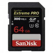 SanDisk SDXC Extreme  Pro 64 GB, 300 MB/S, UHS-II memóriakártya (173374) SDSDXPK-064G-GN4IN