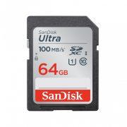 SanDisk SDXC Ultra kártya 64GB, 100MB/s CL10 UHS-I (186469)