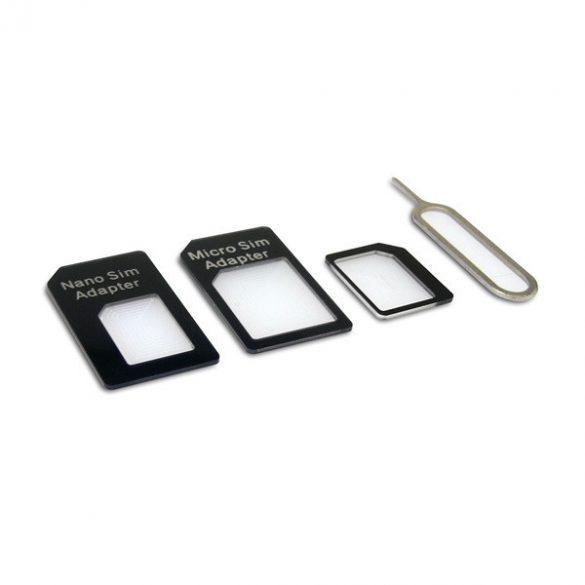 Sandberg Telefon kiegészítő - SIM Adapter Kit 4in1 (Nano>Micro; Micro>Normal; Nano>Normal átalakító + Tű SIM slot-hoz)