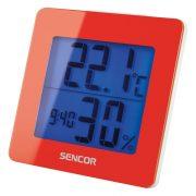 Sencor SWS1500RD Időjárás állomás ébresztővel - piros