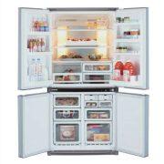 Sharp SJF790STSL Alulfagyasztós 4 ajtós hűtőszekrény
