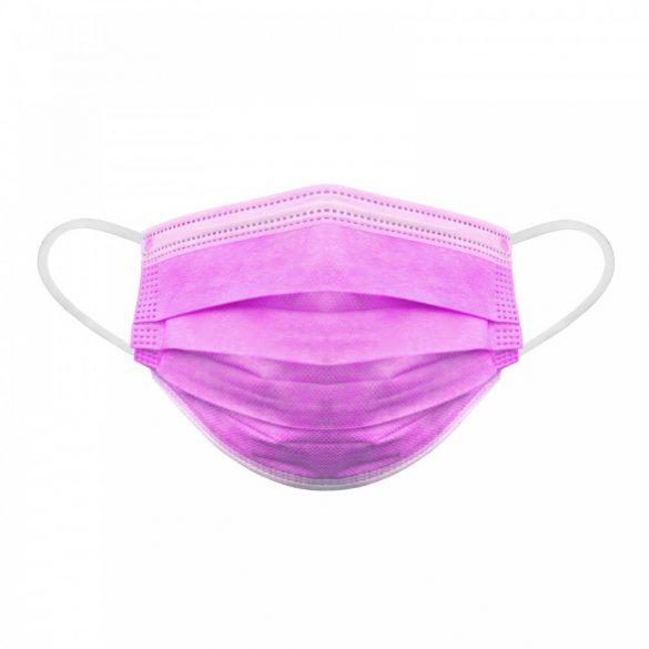 Szájmaszk - 3 rétegű - rózsaszín (PR069E)