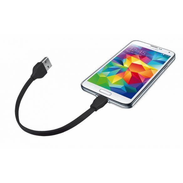 Trust 20139 Flat Micro-USB kábel 20cm fekete