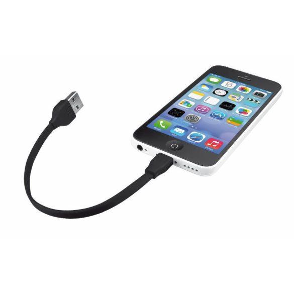 Trust 20131 Flat töltő kábel 20 cm fekete iPhonehoz