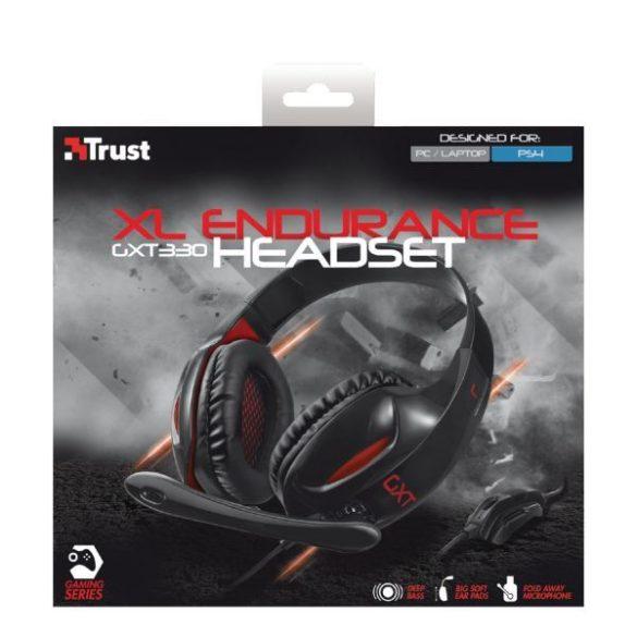 Trust GXT 330 XL Endurance mikrofonos fejhallgató