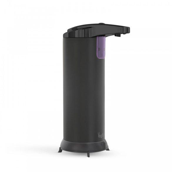 Vog&Arths álló, elemes, automata szappanadagoló 220ml - fekete (51122B)