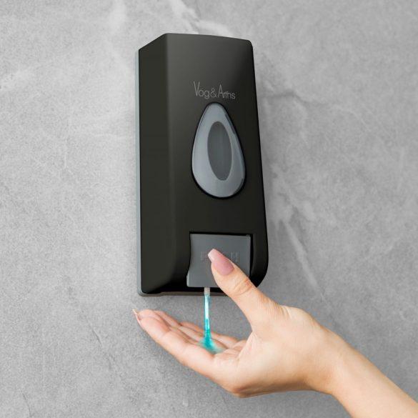 Vog&Arths manuális fali szappanadagoló 350 ml - fekete (51119C)