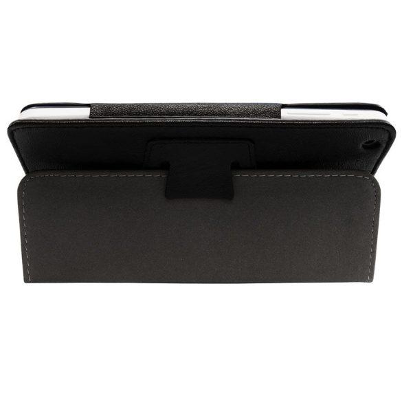 WayteQ xTAB-7X bőrtok, asztali tartó funkcióval - FEKETE
