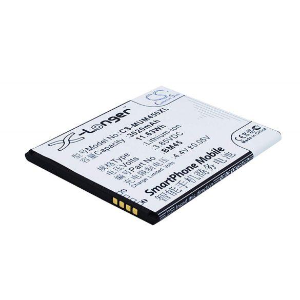 Xiaomi BM45 3.85V 3020mAh Li-Ion utángyártott akkumulátor